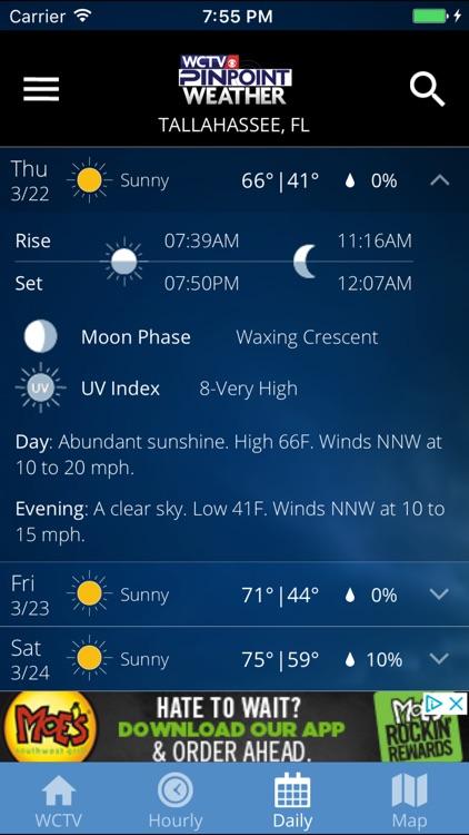 WCTV Pinpoint Weather screenshot-3