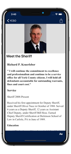 York County Sheriffs Office PA on the App Store
