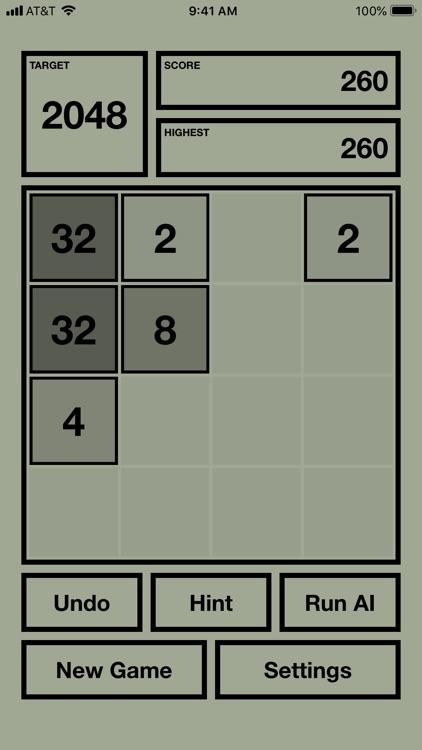 2048X AI - 2048 with AI solver