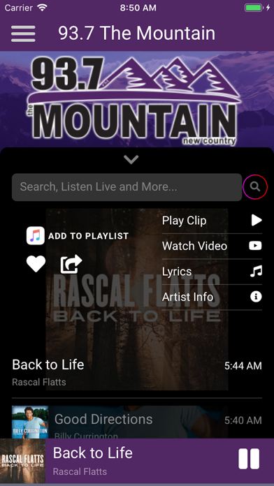 93.7 The Mountain New Country screenshot four