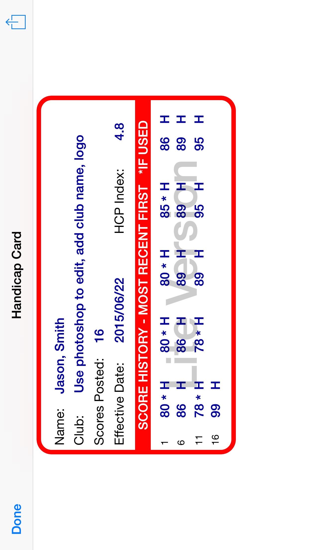 Golf Handicap Tracker & Scores Screenshot