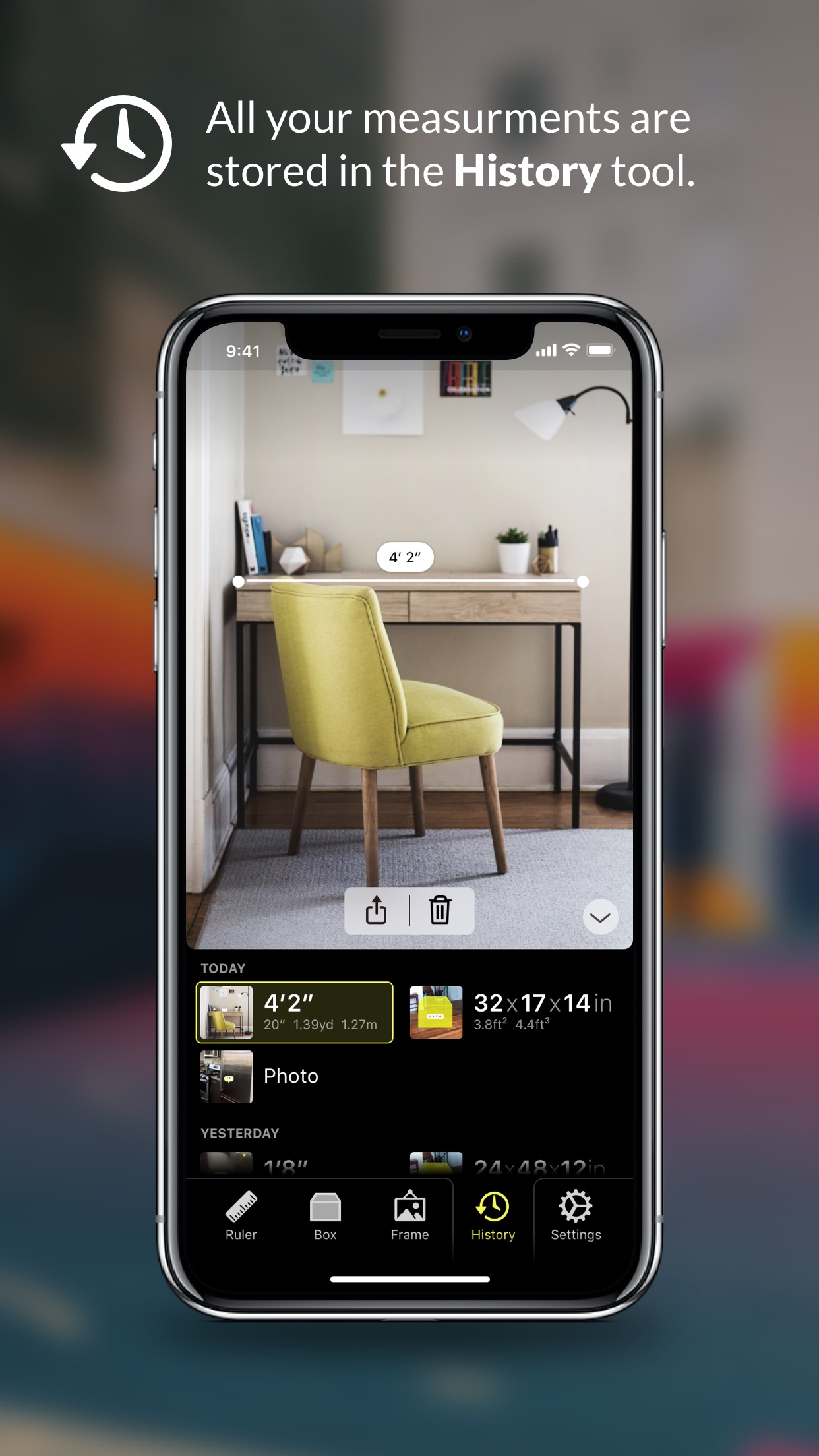 Screenshot do app Cubit — AR Ruler Toolkit