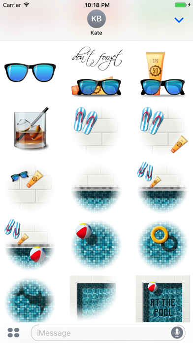 Poolside Stickers screenshot 4