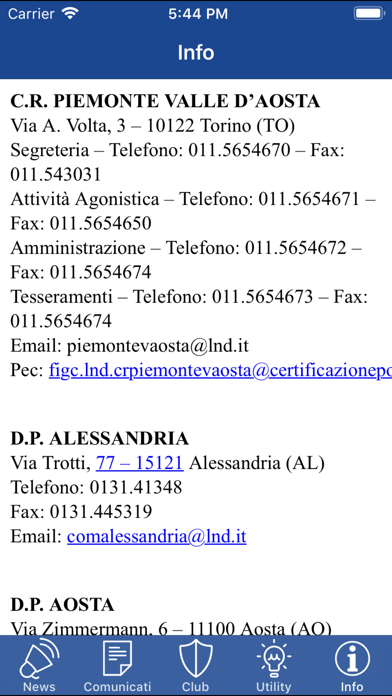 LND Piemonte Valle d'Aosta screenshot three