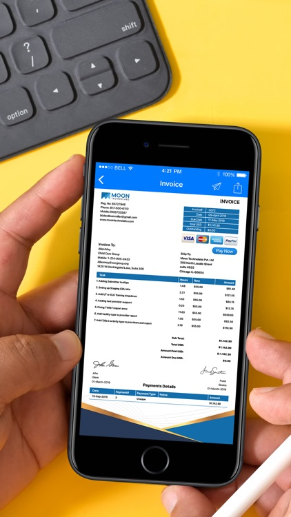 Moon Invoice – Easy Invoicing screenshot-0