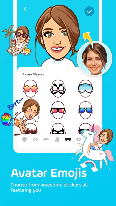 Facemoji keyboard: Emoji&Fonts Screenshot