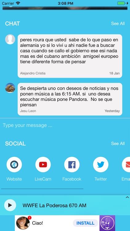 La Poderosa y Cadena Azul screenshot-3