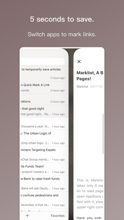 Marklist - Manage Later Things