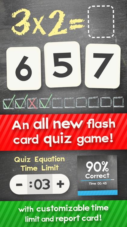 Multiplication Math Flashcards