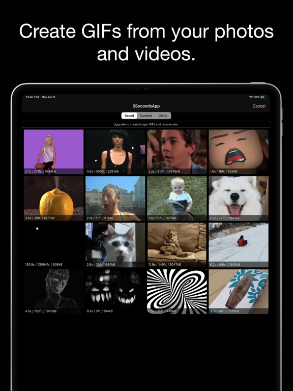 5SecondsApp - Animated GIF Create & Search screenshot