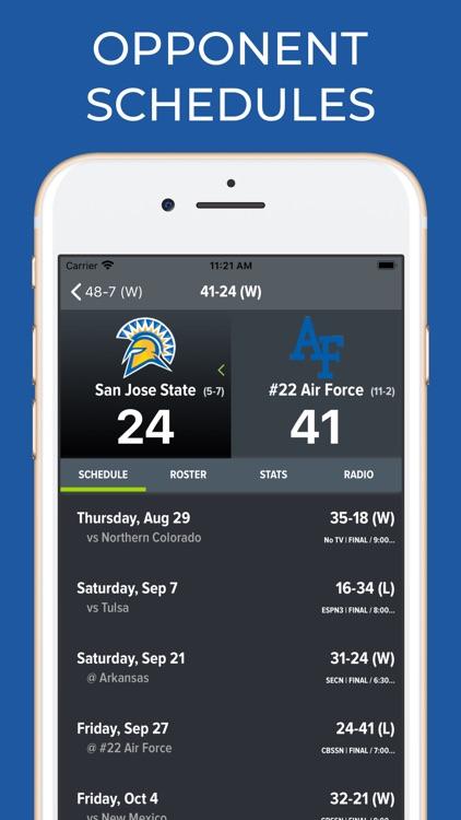 Air Force Football Schedules screenshot-7