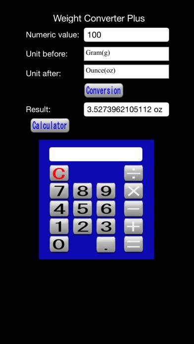 Weight Converter Plus screenshot three