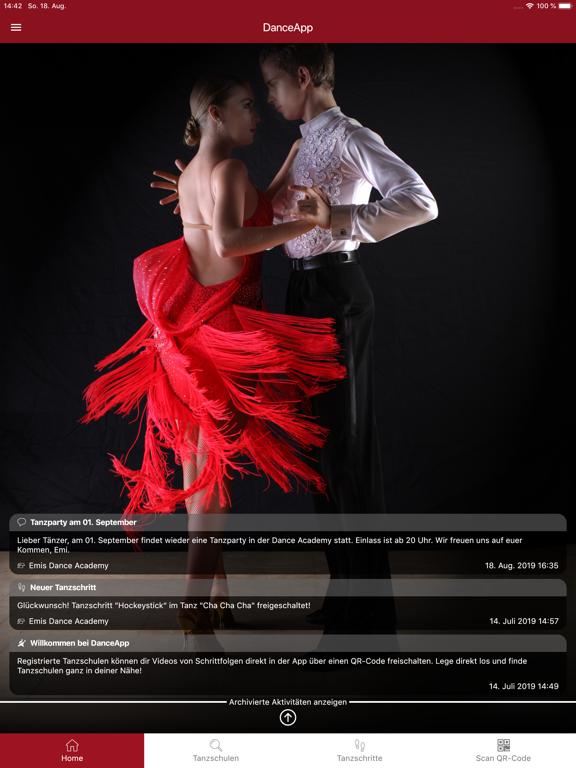 DanceApp screenshot