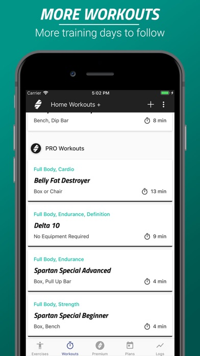 Spartan Home Workouts - Pro Screenshots
