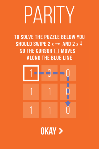 Parity puzzle game - náhled
