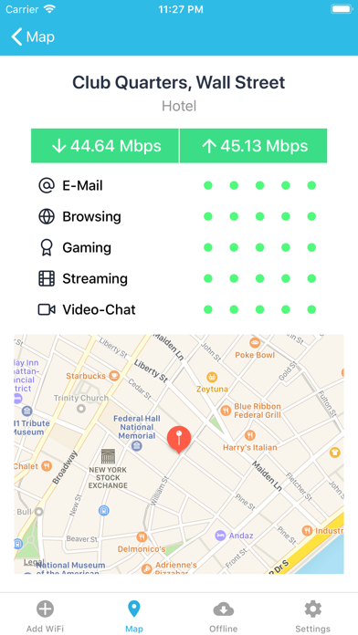 WiFi Finder + Map Screenshot