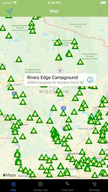 Wisconsin – Camping & RV spots screenshot-0