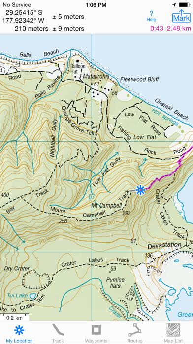 Screenshot for i Hike GPS NZ : Topo Maps in New Zealand App Store