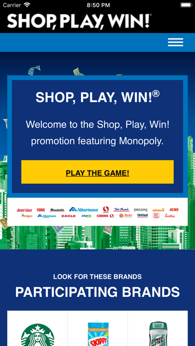 download Shop, Play, Win!® MONOPOLY apps 1