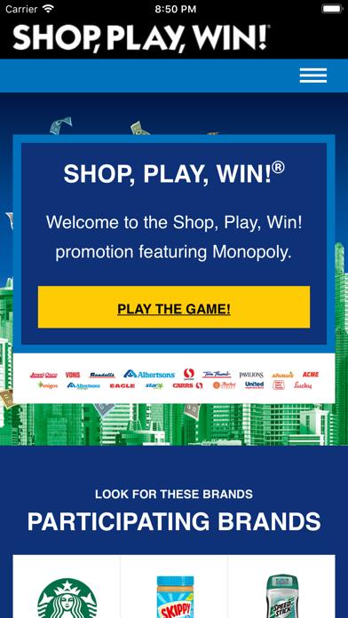 Shop, Play, Win!® MONOPOLY screenshot 1