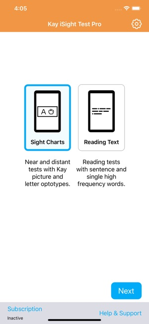 Kay iSight Test Professional on the App Store