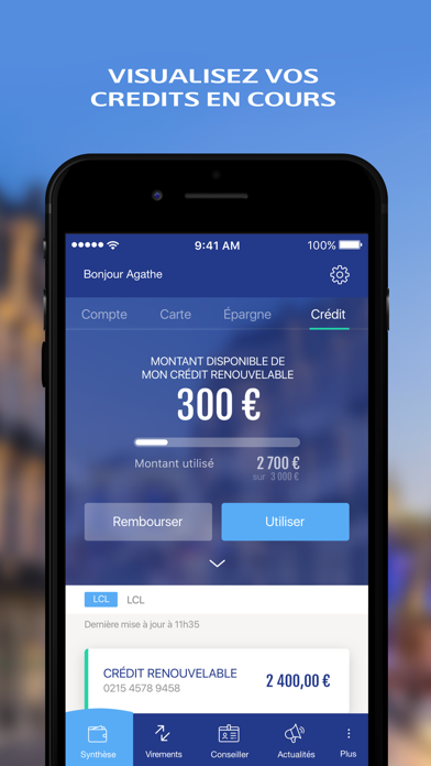 mes comptes - lcl app analyse et critique - finance