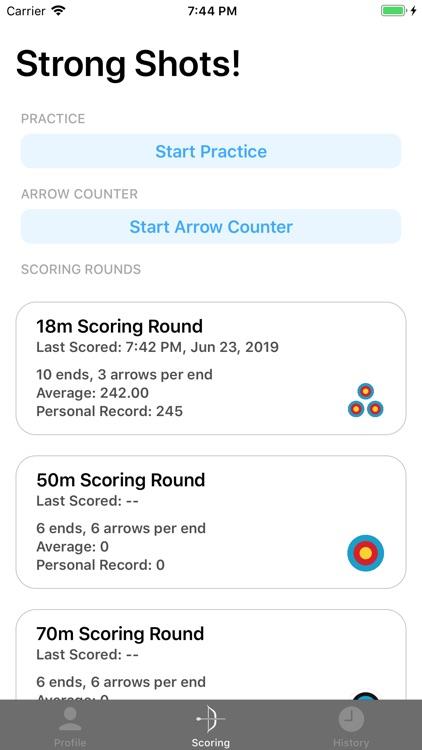 Rise - Archery Scoring Tracker screenshot-0