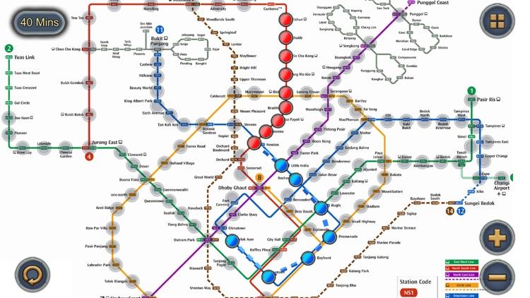 Singapore MRT Map Route by Wan Peng