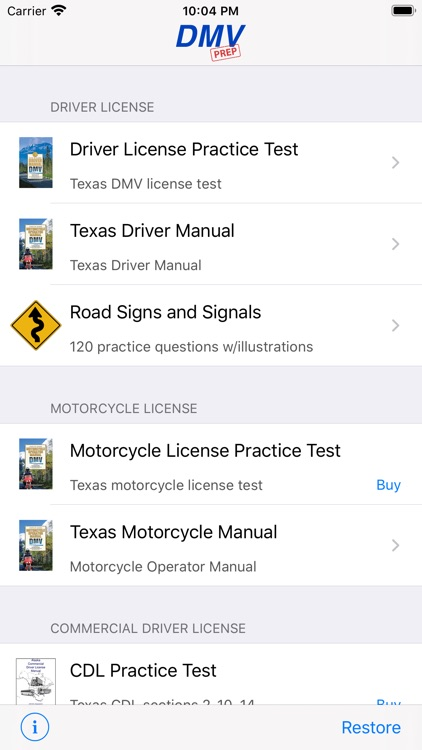 Texas DMV Test Prep