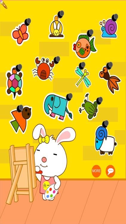 Easy Coloring Book Animals