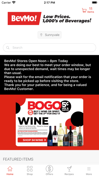 messages.download BevMo! software