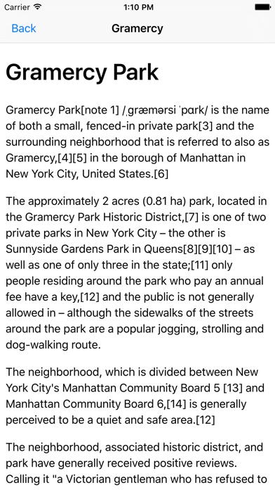 NYC Tourist Map screenshot four