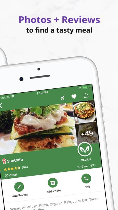 HappyCow Find Vegan Food Screenshot