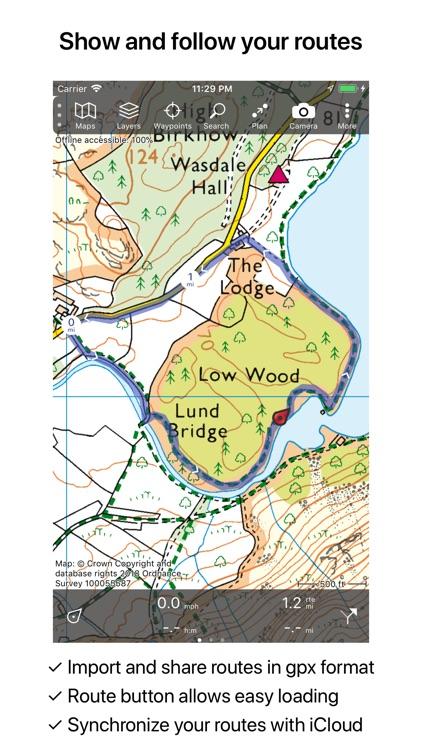 Topo GPS Great Britain screenshot-3