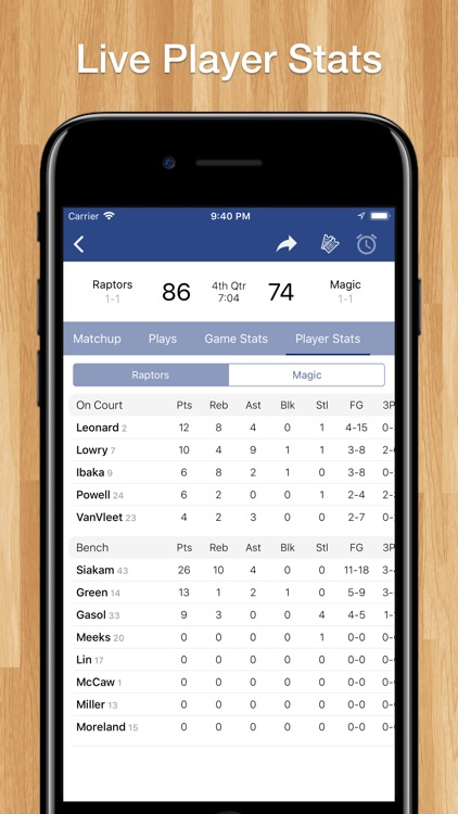 Scores App for Pro Basketball screenshot-4