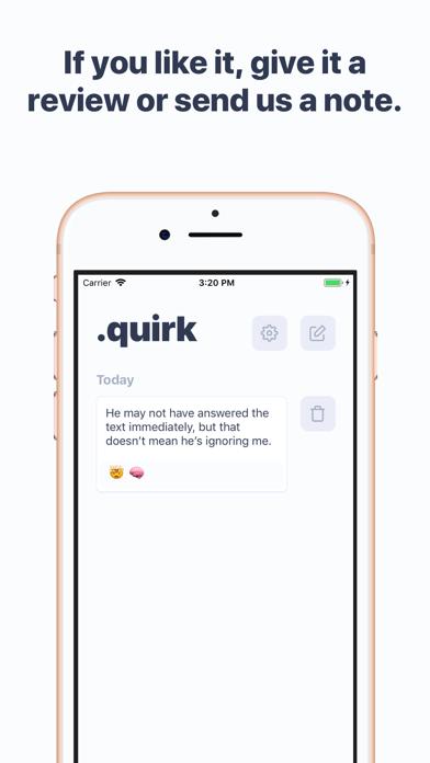Quirk CBT Screenshot 5