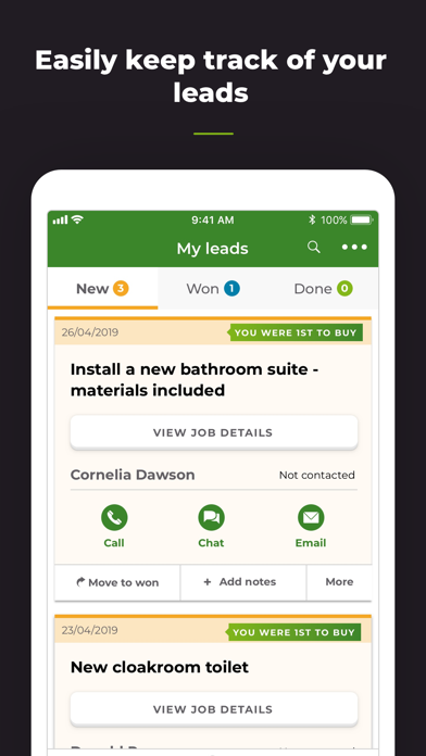 Rated People - Find Job Leads screenshot three