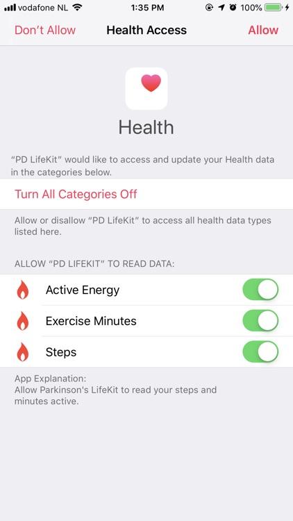 Parkinson's LifeKit screenshot-5