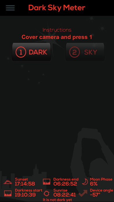 Dark Sky Meter Screenshots