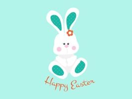 Happy Easter, Funny Bunnies