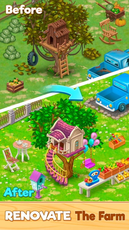 Granny's Farm: Match-3 Game