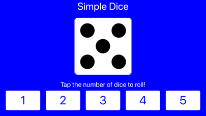 Simple Dice: Roll 1-5 Dice! screenshot three