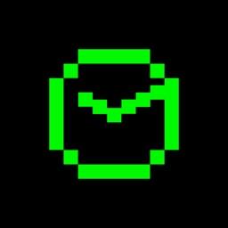 Pixel Clock - Retro Style