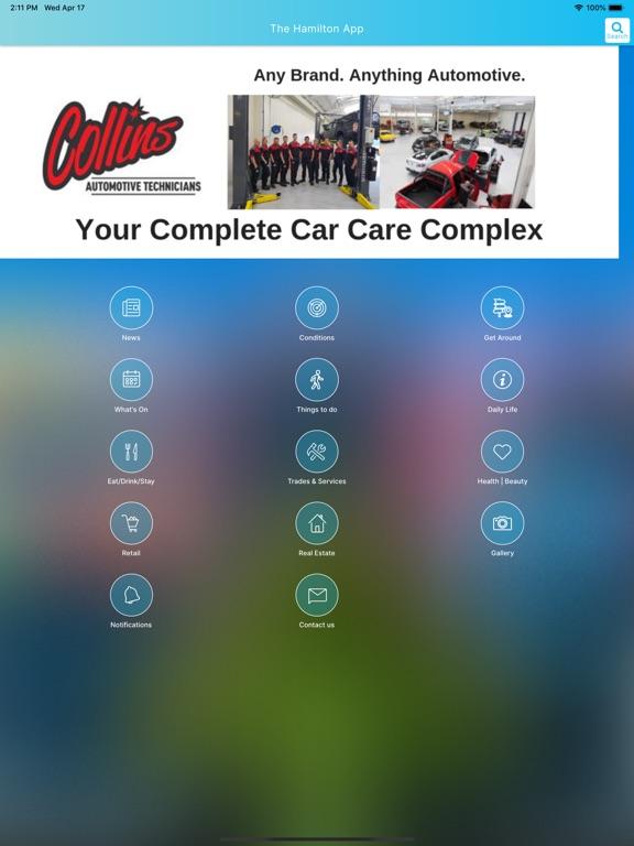 iPad Image of The Hamilton App