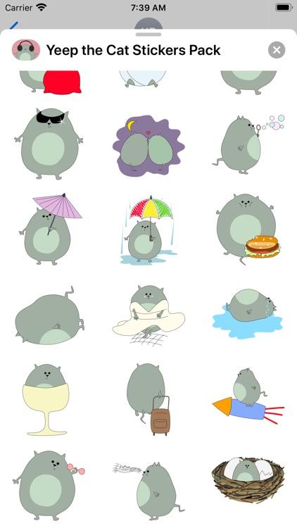 Yeep the Cat Stickers Pack screenshot-4