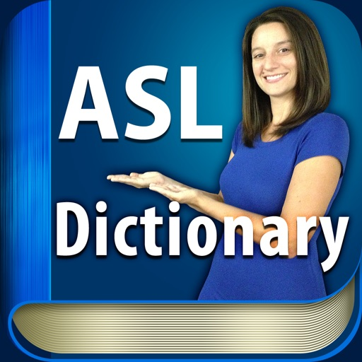 ASL Dictionary Sign Language icon