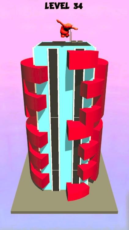 helix tower jump 3D screenshot-4