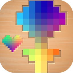 HUE - I Love Wooden puzzle