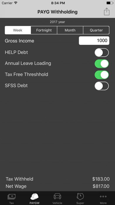 my Tax Calculator Australia screenshot two