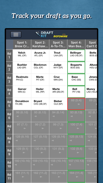 Fantasy Baseball Draft Kit '20 Screenshot